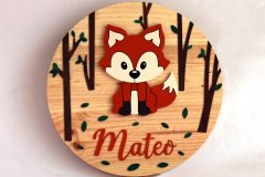 Cartel decorativo de madera infantil personalizado