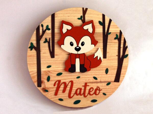 cartel infantil personalizado de madera