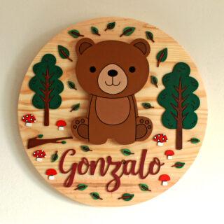 cartel de madera infantil personalizado