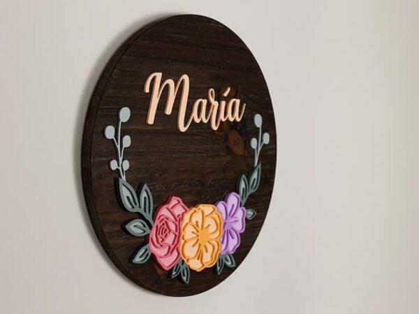 cartel personalizado de madera