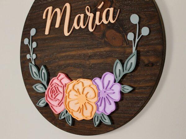 cartel personalizado de madera con tu nombre