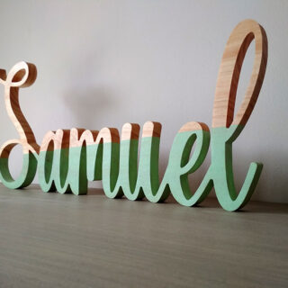 letras de madera maciza