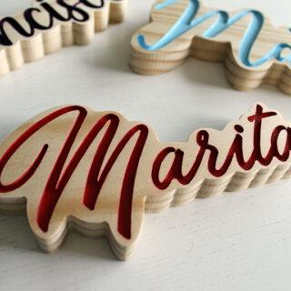 Letrero nombre personalizado
