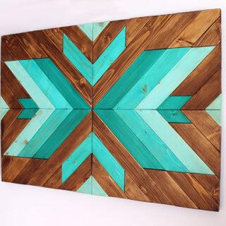 cuadro de madera goemetrico
