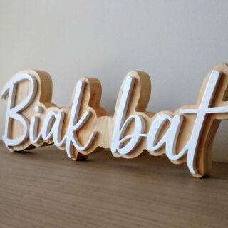 nombre o frase en madera